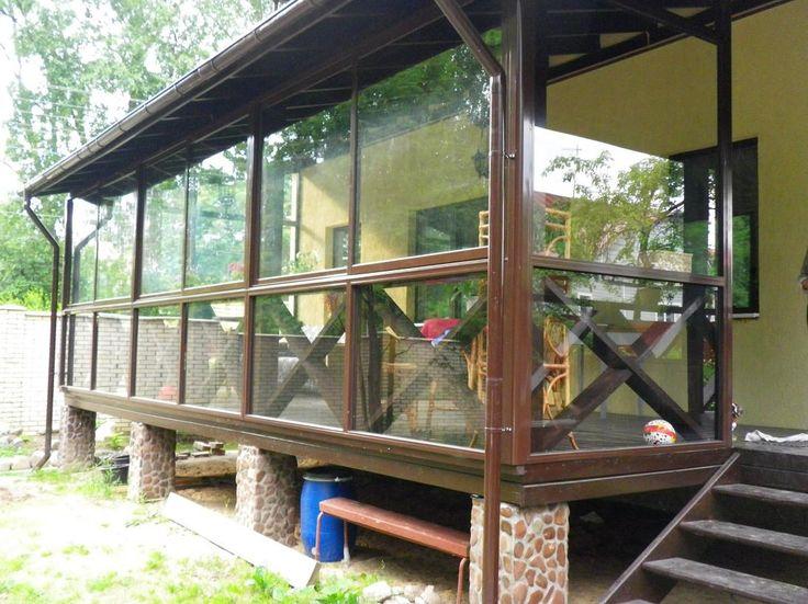 Варианты крылец к дому из кирпича, дерева и бетона, 26 ФОТО