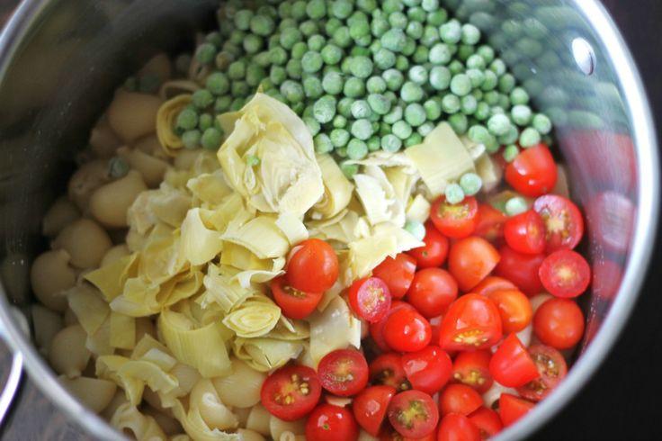 Peanut Pesto And Peas Pasta Salad Recipe — Dishmaps
