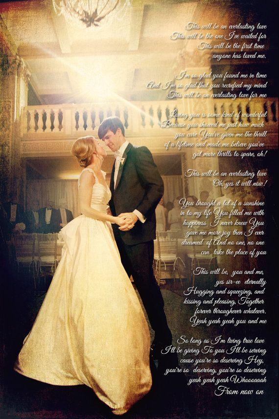 Wedding Anniversary Photo First Dance Song Lyrics Photo Art Custom Ph