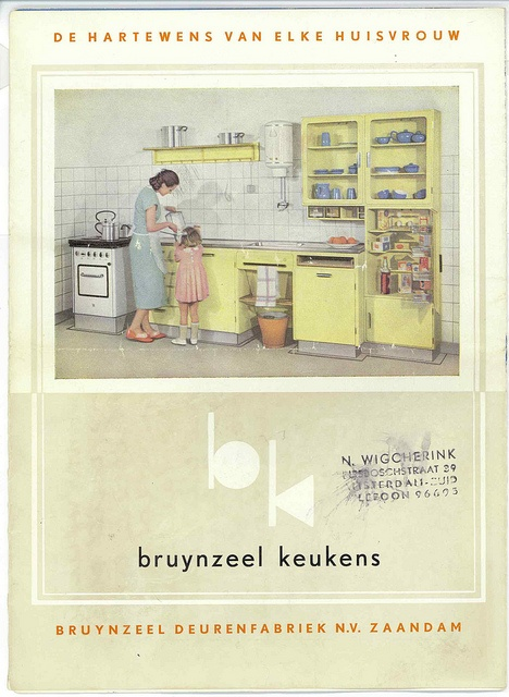 Piet Zwart Bruynzeel Keuken  Tegels  Jaren 20 Jaren 30 woning  bad ...