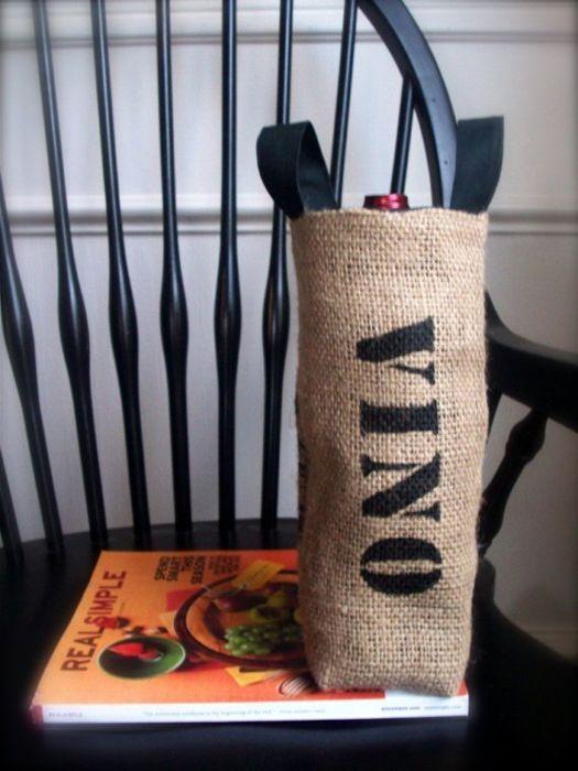 Coffee Sack Wine Basket