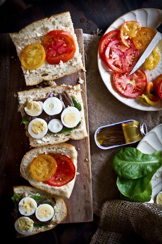 Tuna Nicoise Sandwich. It's pretty, it's simple, and it's delicio...