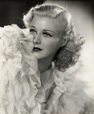 Ginger Rogers. 1930s hair