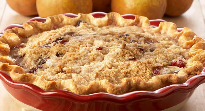 Pear and Cranberry Crumble Pie : This showstopper marries mellow ...