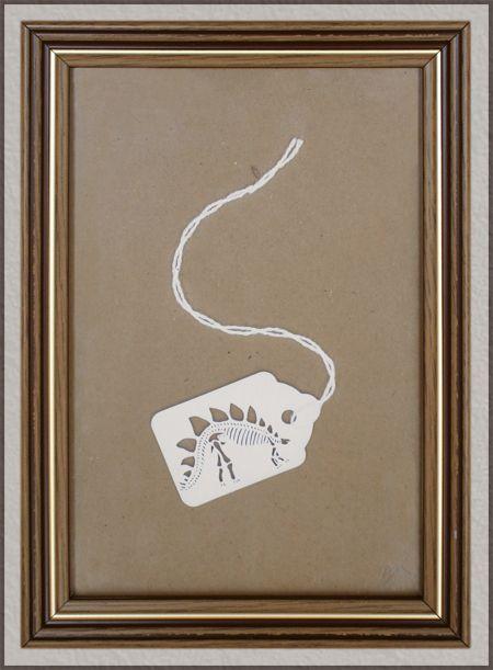 Dinosaur Tags - Papercuts by MJ Lomax.