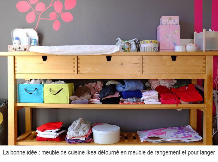 Meuble cuisine ikea en table langer d coration enfants for Meuble a langer ikea