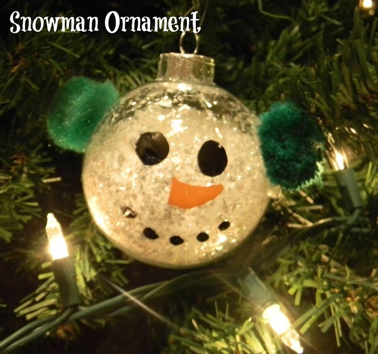 DIY snowman ornament. Adorable! | Holiday Crafts / Ideas | Pinterest