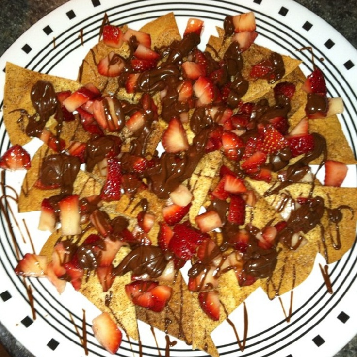 Strawberry & Chocolate Nachos! I think I did pretty good! Here's the ...