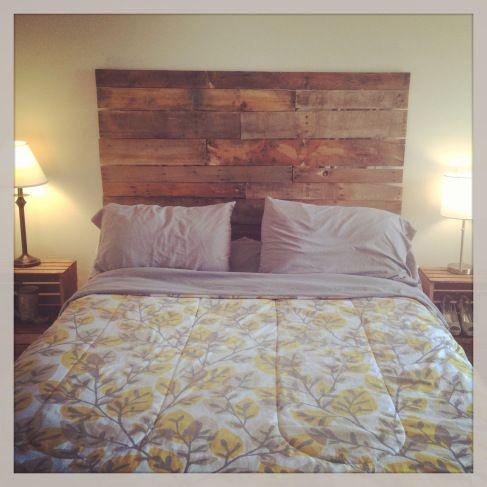 DIY Wood Headboard Do It Yourself Pinterest