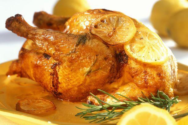 Lemon Roast Chicken w/ rosemary | Eat, Drink & Be Merry | Pinterest