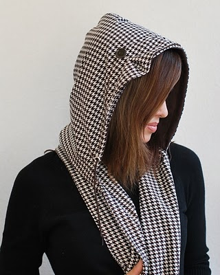hooded scarf: NEW 4 HOODED SCARF PATTERN SEWING FREE