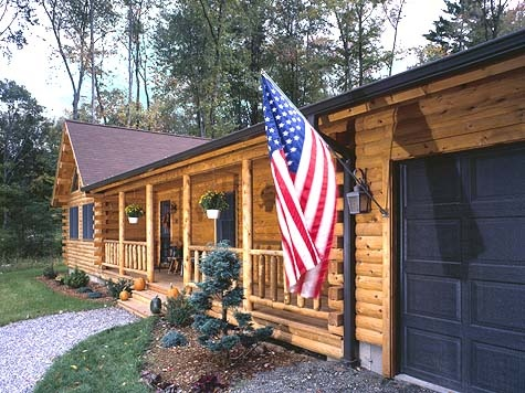 Ranch Style Log Cabin Dream Home Pinterest