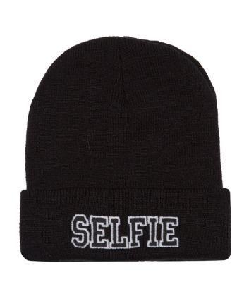 Black Selfie Beanie