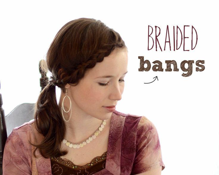 braided bangs tutorial - photo #12