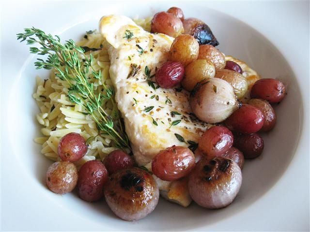 Roasted Grapes with Shallots & Thyme: Served here with chicken, an ...