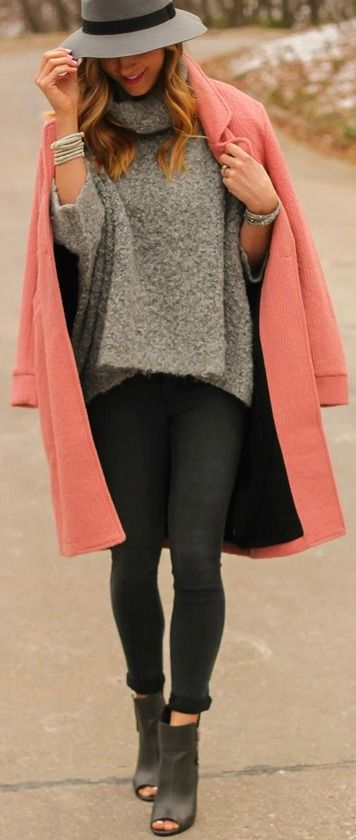 Blush Pink Oversized Wool Coat by LuLu's