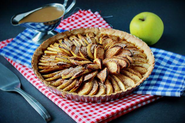 apple-tart-with-caramel-sauce-recipe | Recipes | Pinterest
