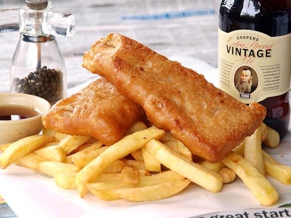 fish amp chips amp lots amp lots of malt vinegar yum