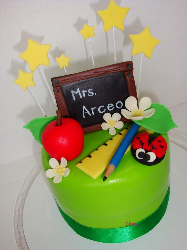 Cake Designs For Teachers : spring cake Teacher Cakes Pinterest