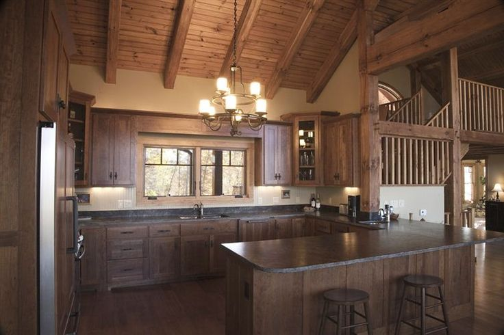 Timber Frame Kitchen Love The Cabinets Home Pinterest