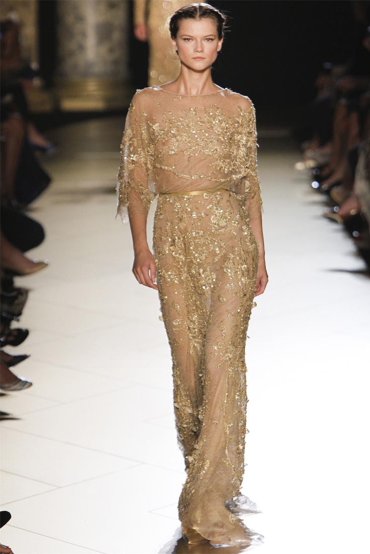 Gorgeous gold ruled Elie Saab's Fall Haute Couture 2012 runway
