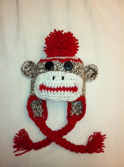 Crochet sock monkey hat Crochet patterns Pinterest