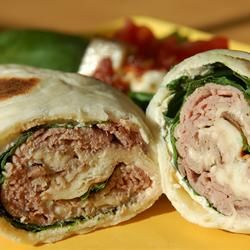 Roast Beef Horseradish Roll-Ups--Great for parties.
