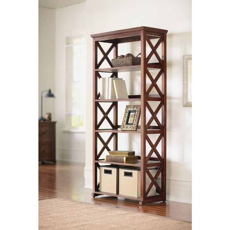 Home Decorators Collection Bookcase Brexley Chestnut 5 Shelf Bookcas