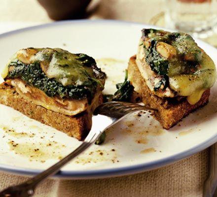 Cheesy stuffed mushrooms on toast | Recipe