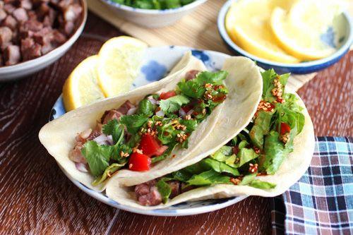 Korean Kalbi Taco #KoreanFood #Tacos