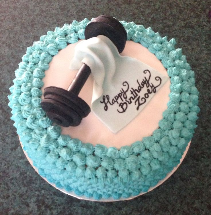 Gym cake ?? My Cakes ?? Pinterest