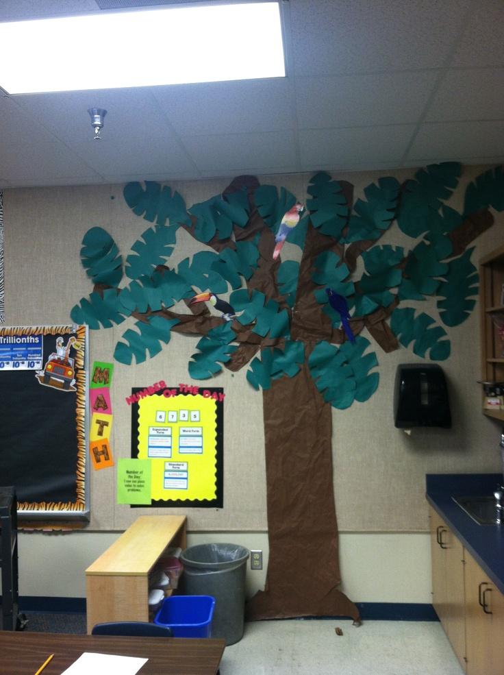 Classroom Ideas Trees : Classroom tree quot jungle theme themed