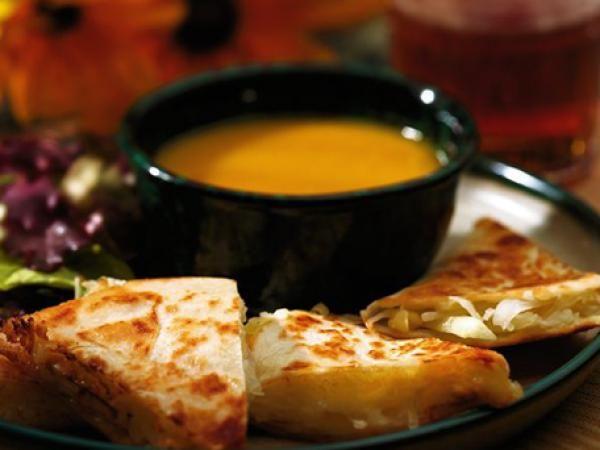Apple, Sauerkraut & Cheddar Quesadillas | KitchenDaily.com