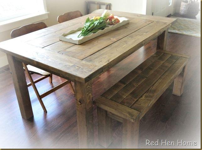 farmhouse table with plans