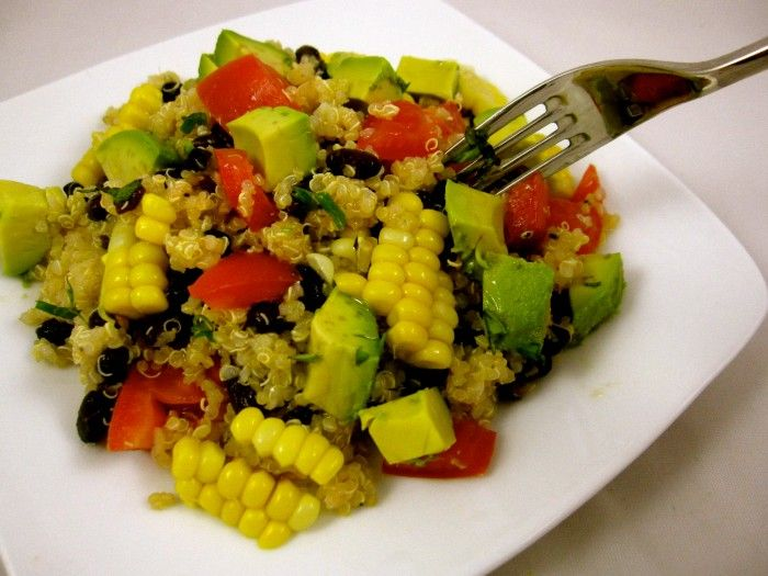Quinoa with Black Beans, Avocado | Salads | Pinterest
