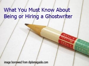 Need a ghostwriter