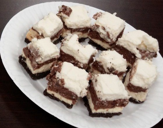 and white cheesecake squares recipe yummly these black and white black ...