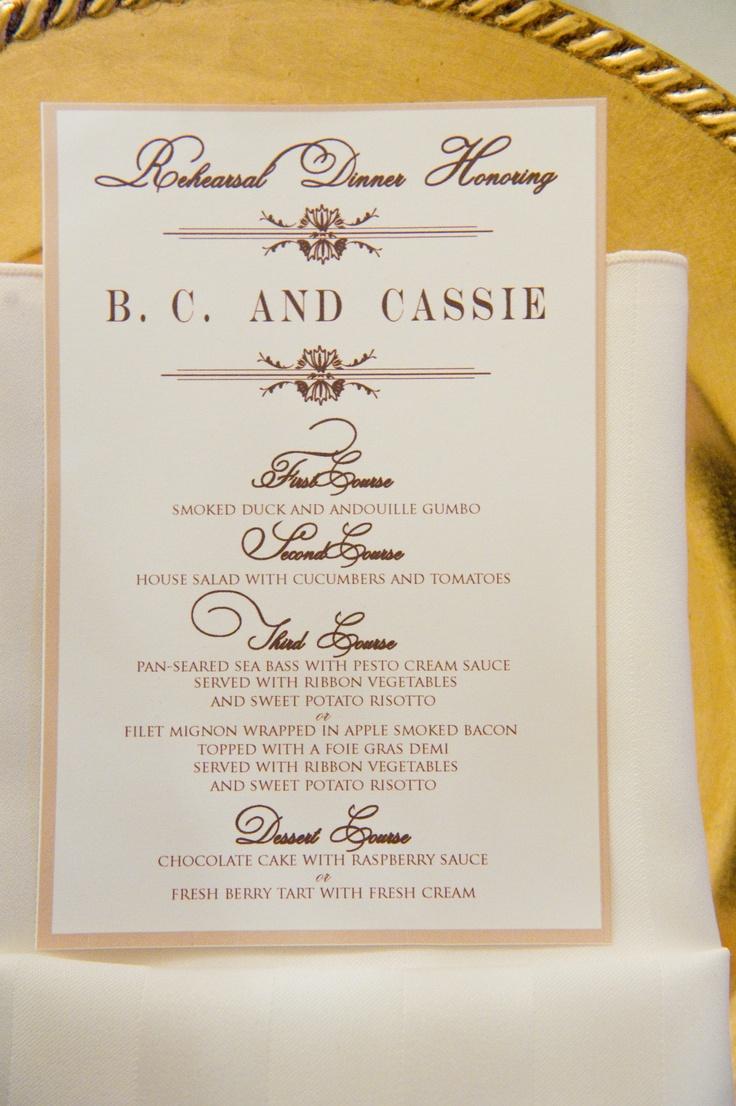 23 marvellous wedding dinner menu ideas for Ideas for dinner menu