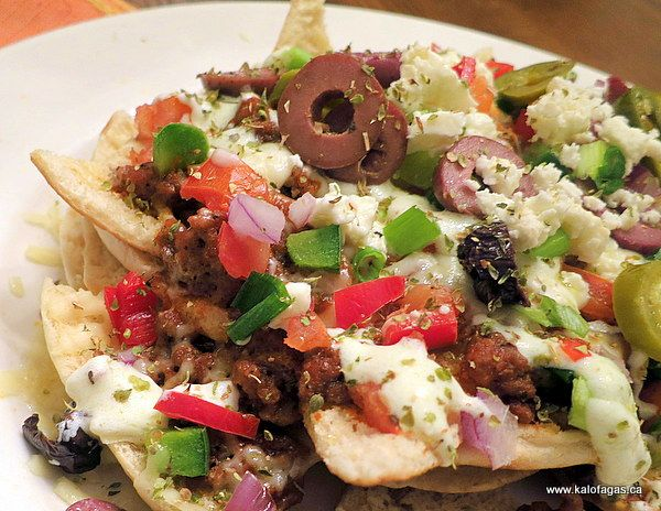 Greek Nachos | Appetizers | Pinterest