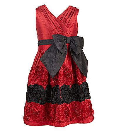 Bonnie jean 716 crossoverbodice dress dillards cute for christmas