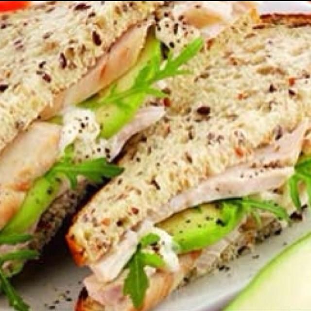 Turkey and Avocado Sandwich! :)