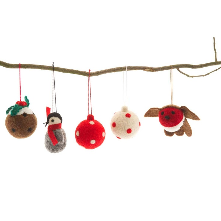 Felted Christmas Tree Decorations Fabulous Felt Pinterest