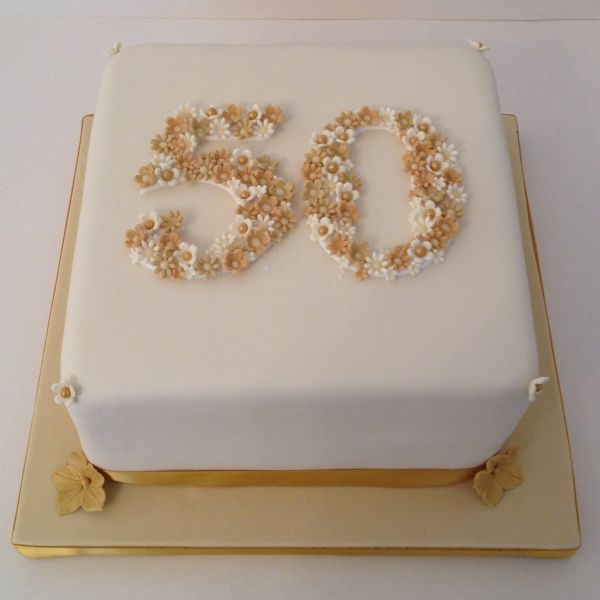 Cake Designs For Golden Wedding Anniversary : 50 - Golden Wedding anniversary cake