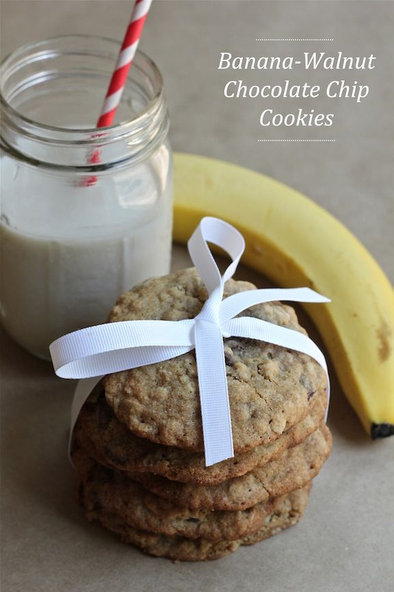 Banana-Walnut Chocolate Chip Cookies | Recipes I Want to Try | Pinter ...