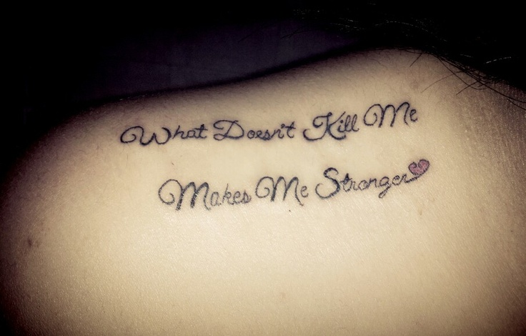 Girl Tattoos: Quote Girly Tattoos