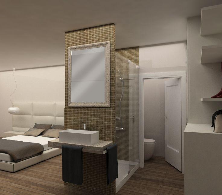 Medidas Baño En Suite:Reforma de casa en Gavà baño suite con plato de ducha a medida #