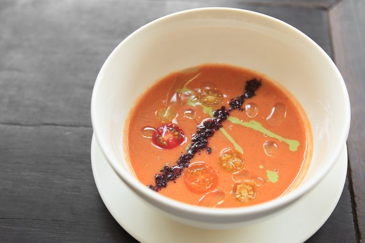 Spicy Cold Heirloom Tomato Soup with Fresh Wasabi | Lantern | Chapel ...