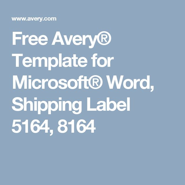 Shipping Label Template Word Datariouruguay