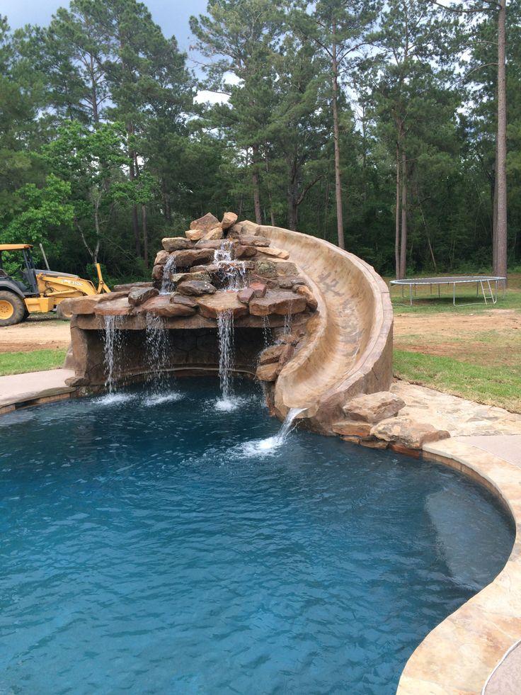 Custom pool slides for inground pools joy studio design for Swimming pool slides
