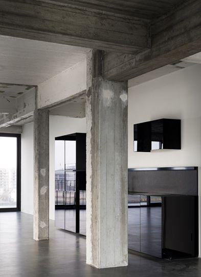 exposed concrete makes me swoon interiors pinterest